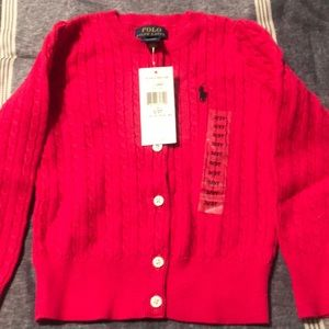 Girls size 3t Polo sweater pink(new)